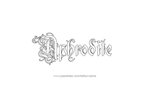 aphrodite tattoo designs aphrodite mythology name designs tattoos with names