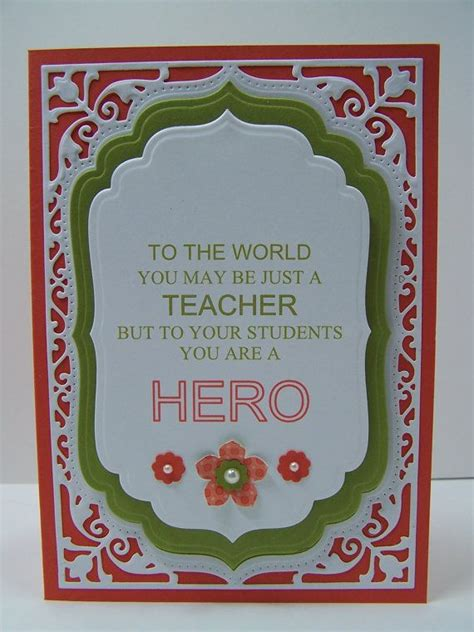 Handmade Cards For Teachers - 219 best images about appreciations on