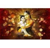 Lord Krishna Cute Baby And Yasoda Wallpapers HD
