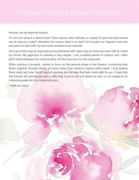 watercolor tutorial peony 1000 ideas about watercolor flowers tutorial on pinterest