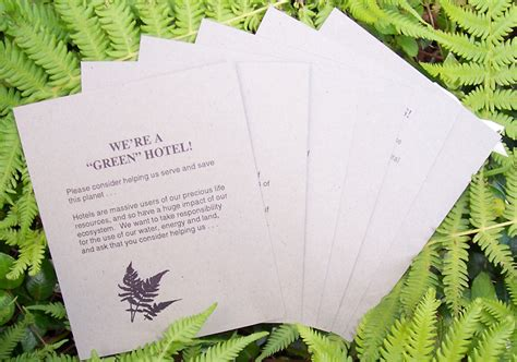 Hotel Com Gift Card - quot green quot hotels association printed cards