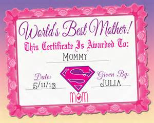 world s best mother certificate printable