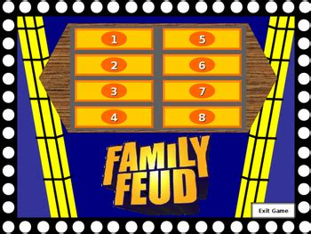 Family Feud Template By Mitford Walker Teachers Pay Teachers Family Feud Template For Teachers
