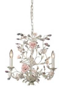 Cottage Chandeliers French Country Cottage Rose Porcelain Mini Chandelier