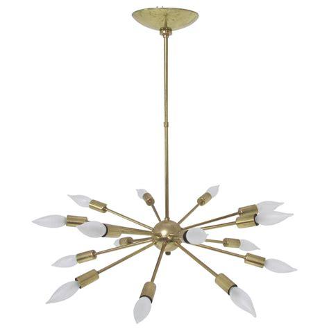 Sputnik Pendant Light Original Sputnik Chandelier Light Fixture In Brass With Sixteen Arms At 1stdibs