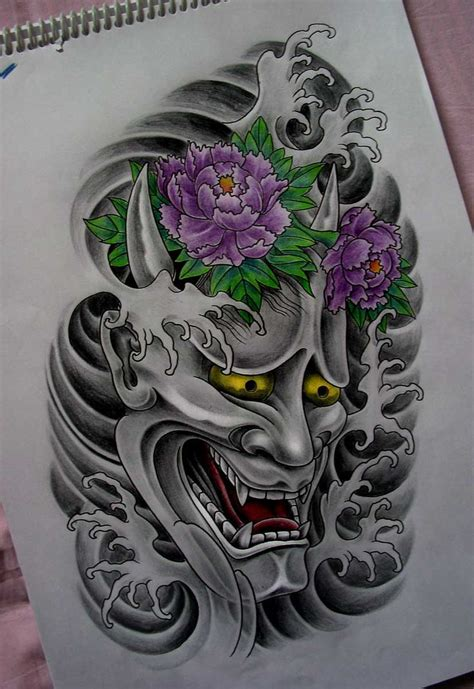 hannya mask tattoo deviantart best 25 hannya mask tattoo ideas on pinterest oni