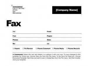 fax cover sheet template free fax cover sheet