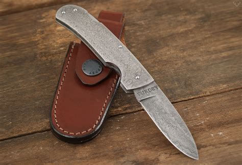 knives pocket folding purdey damascus folding pocket knife lumberjac
