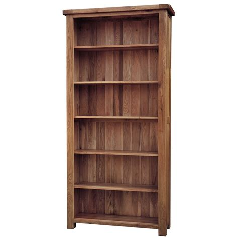 country oak standard bookcase height 3ft 6ft realwoods