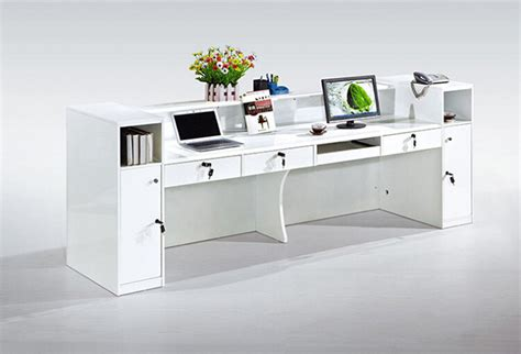 high  office furniture white cheap small modern office front desk counter buy front desk