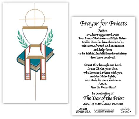 the grace to be a priest books symbolic chalice with year of the priest prayer pack of