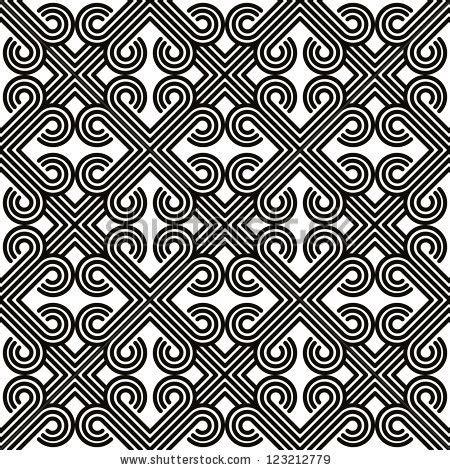 black and white pattern vintage vintage geometric seamless pattern black white stock
