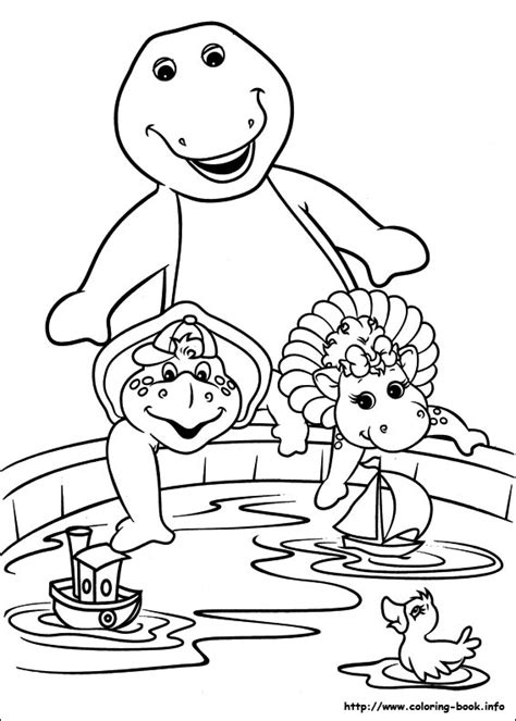 barney birthday coloring page barney and friends coloring picture crafts pinterest