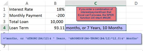 Formula For Credit Card Payoff Excel Tip Determining The Remaining Length Of A Loan Using Nper 187 Accounting Advisors Inc