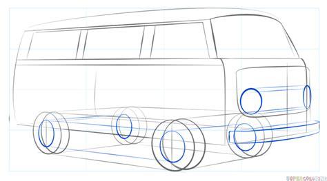 volkswagen bus drawing vw bus line drawing www pixshark com images galleries