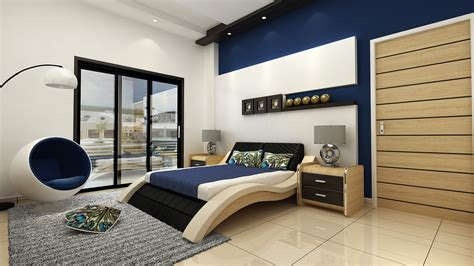 Creative Custom Master Bedroom Design With Navy Blue And Creative Bedroom Design