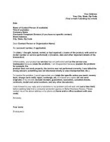 Sle Complaint Letter Regarding Poor Customer Service Sles Of Letters Of Complaint 100 Images Emailing Resume Sle 100 Images Resume Cv Cover