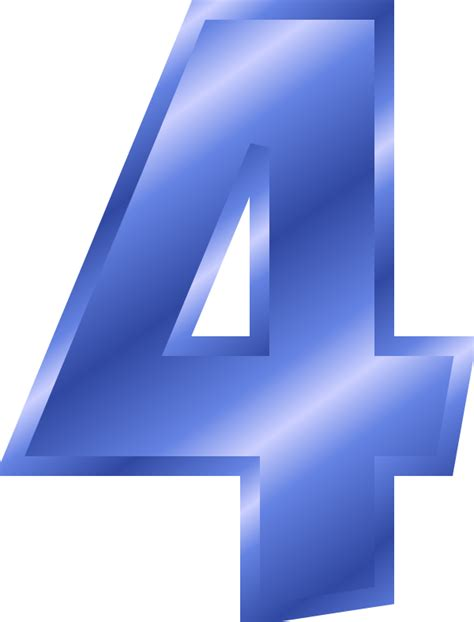 one east blue 4 5 6 number 4 clipart clipart suggest