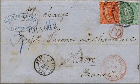 Présentation Lettre Recommandée Avec Ar Histoire Postale De L Angleterre Et Du Premier Timbre Le One Black De Rowland Hill