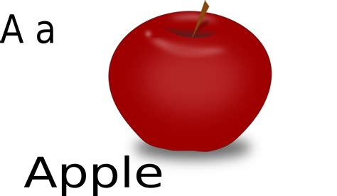 A For clipart a for apple