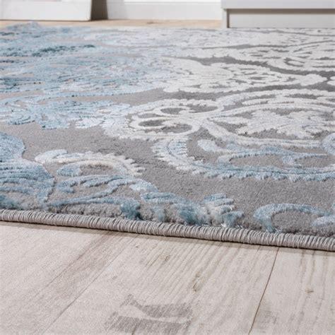 teppich blau designer teppich moderne ornamente muster