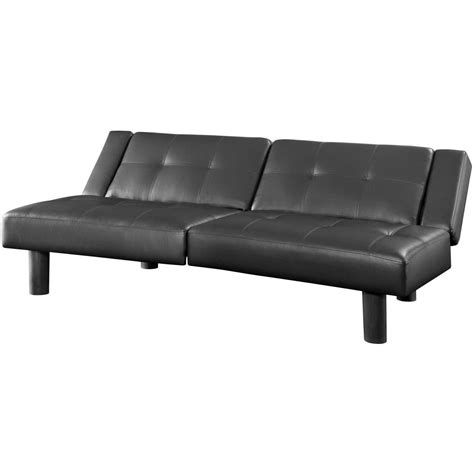 mainstays sofa sleeper black faux leather mainstays connectrix futon colors ebay