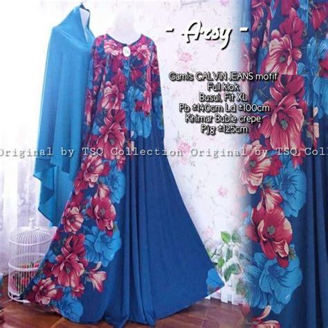 Gamis Calvin Bunga gamis motif bunga arsy syari model baju muslim modern