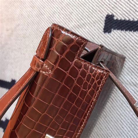 Promo Hermes Tanggal Brown discount hermes brown shiny crocodile leather minikelly pochette 22cm hermes crocodile birkin bag