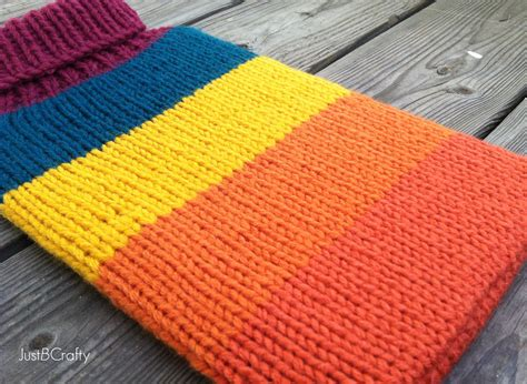 knitting pattern notebook knit macbook air cover pattern just be crafty