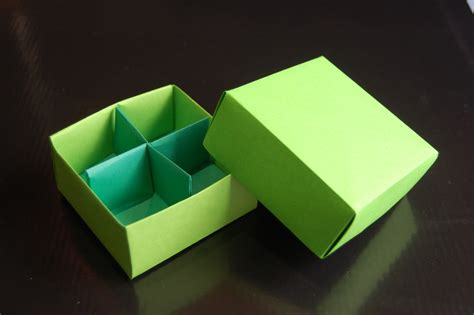 Origami Box With Divider - origami box traditional box divider paolo bascetta