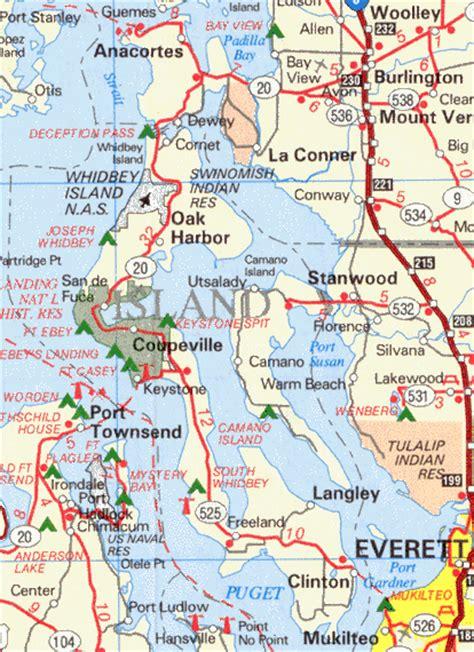 whidbey island map washington island county 171 every county