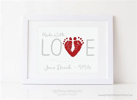 valentines gift for from baby print valentines day gift for personalized baby
