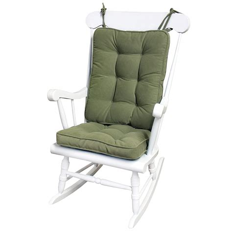 greendale home fashions standard rocking chair cushion hyatt fabric moss  ebay