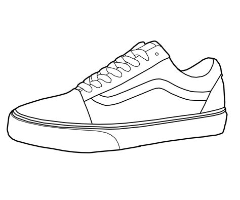 coloring pages of vans shoes vans shoe drawings pe health pinterest van shoes
