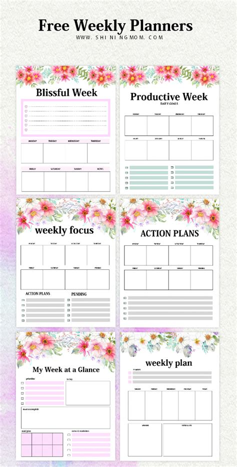 week by week planner template weekly planner template 15 free brilliant designs
