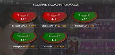 tavolo blackjack blackjack live con croupier reali su 888 it