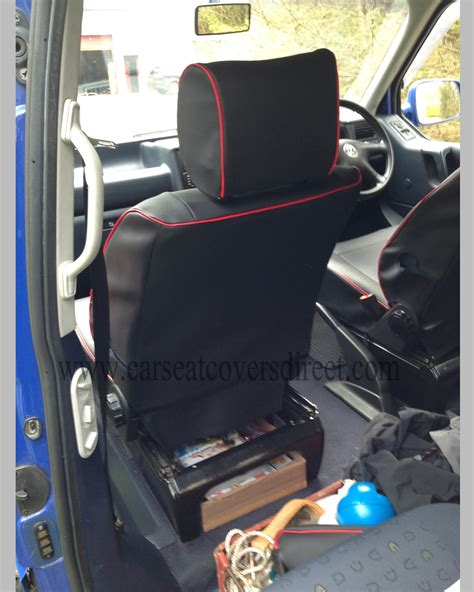 vw t4 seat covers black with piping car seat covers