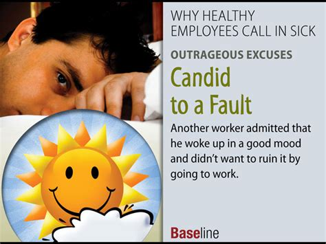 why healthy employees call in sick