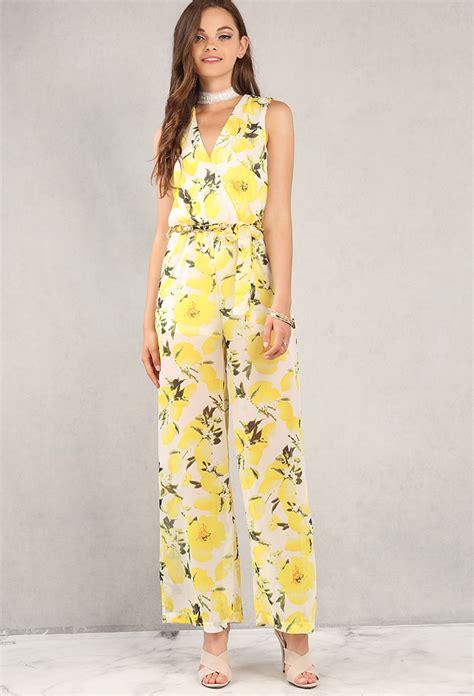 Dress Hoodie Fashion belted lemon print chiffon surplice jumpsuit shop dresses at papaya clothing