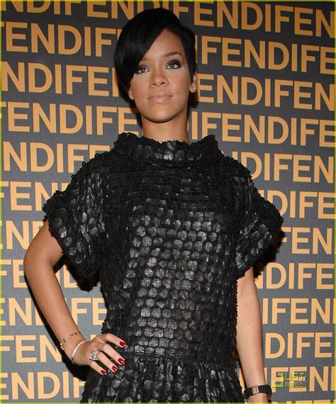 Fendis 2008 Advertising Caign by Sized Photo Of Rihanna Fendi Store Launch 02 Photo