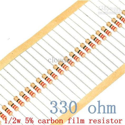 resistor color code 330 ohms free shipping 1 2w 330 ohm 330r 5 resistor 1 2w 330 ohm carbon resistor 0 5w color ring