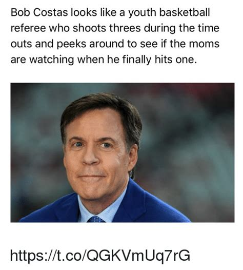 Bob Costas Meme - bob costas looks like a youth basketbal referee who shoots