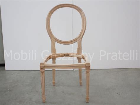 sedia luigi xvi sedie e capotavola grezzi sedia luigi xvi grezza
