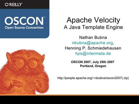 velocity template engine apache velocity