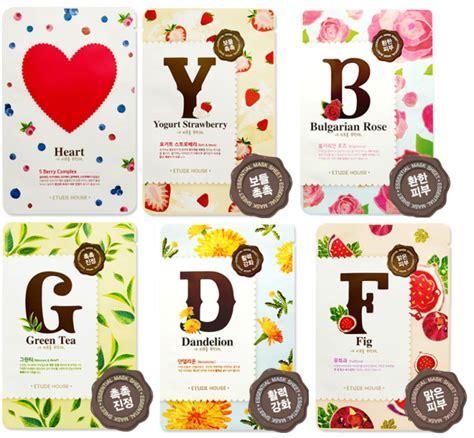 Masker Etude Strawberry etude house alphabet sheet masks
