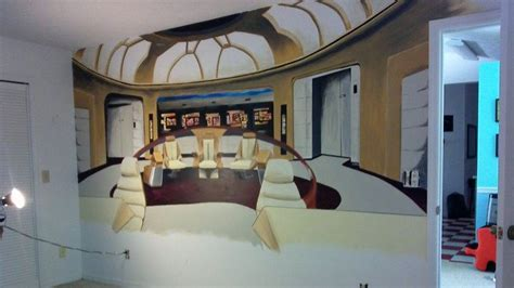 trek wall mural artist ploszay paints awesome trek mural for