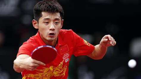 yu swing chat zhang jike wins world title to complete hat trick table
