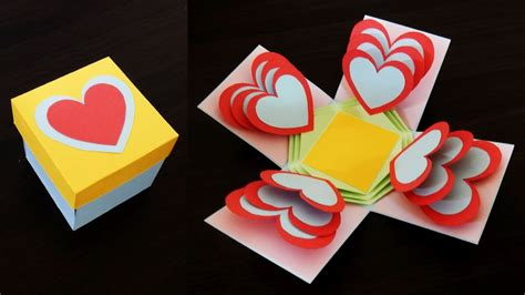 explosion box heart tutorial heart explosion box learn how to make an easy exploding