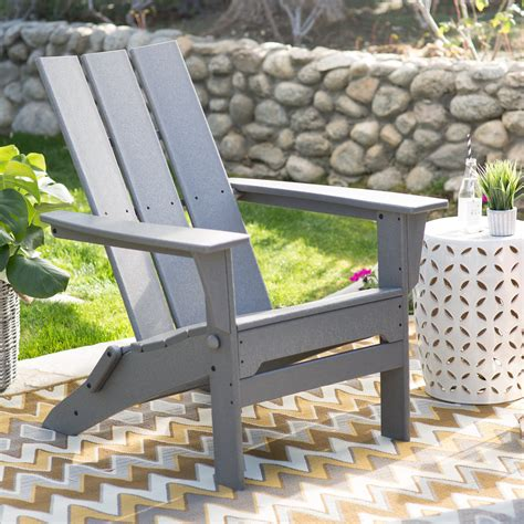 furniture gray recycled plastic classic curveback