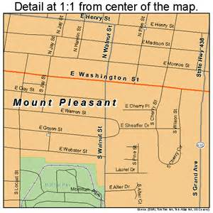 mount pleasant iowa map 1954705